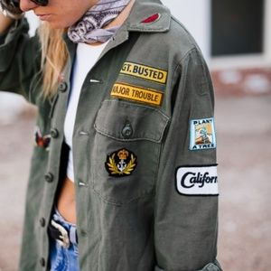 Reformation Army Patch Jacket